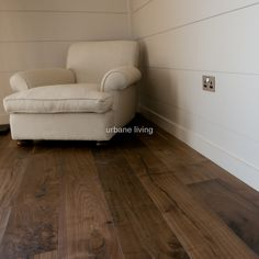 Walnut flooring with smart wall cladding