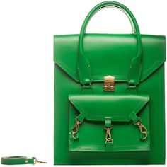 Tomas Brilliance - Green Pelham Bag ($510) ❤ liked on Polyvore featuring bags, handbags, leather man bags, leather tote purse, leather handbags, tote handbags and hand bags