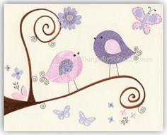 Baby Girl Room Decor Nursery wall Art Prints // by DesignByMaya, $17.00