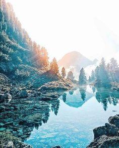 #природа #горы #озеро #отдых #тишина #спокойствие #вода #туман #лес