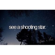 Saw a shooting star with my best friend