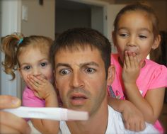 How about a funny pregnancy announcement with the help of siblings and a very nervous dad?
