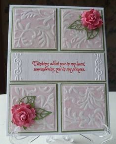 Lovely card made using the Beleek technique