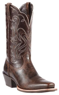 Ariat Womens Chocolate Chip Legend Punchy Square Toe Cowboy Boots