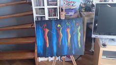 Celebrating women in acrylic painting