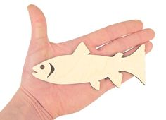 Wooden Fish 15cm Shape Art Projects Craft  by ArtCraftWooden
