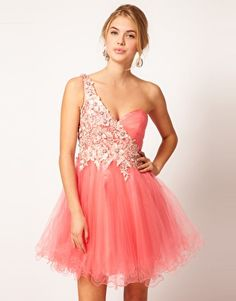 Forever Unique One Shoulder Prom Dress With Lace    - just gorgeous <3