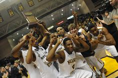 The Racers clinched the 2012 Regular Season OVC Championship title and cut down the nets after the win against St. Mary's in the Bracketbuster game on 2/18