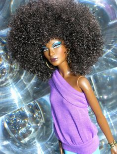 Afro barbie! #naturalhair
