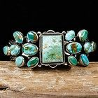 "AARON TOADLENA Navajo ""Abedabun"" Bracelet Sterling Turquoise Old Pawn Style"