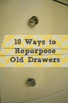 10 ways to repurpose old drawers