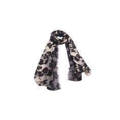Echarpe Floral Degrade Preto de Algodão #echarpes #lenços #lenço #scarf #scarfs