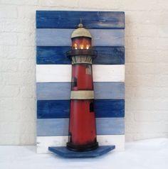 Nautical Lighted Lighthouse Beach Cottage Wall Decor
