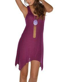 Look what I found on #zulily! Purple Sidetail Dress - Women #zulilyfinds
