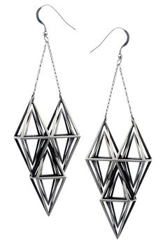 fathom and form triple diamond earrings_circle and square