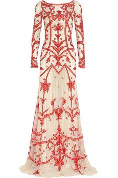 Temperley London | Francine chiffon-appliquéd tulle gown | NET-A-PORTER.COM