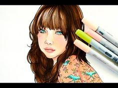 QUICK VERSION - How to color with copics: coloring with elegance
