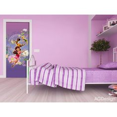 Disney Fairytale Girls Wall Mural and Door Mural is Perfect for Girls Room. This Room Decor Will Transform The Look of The Entire Room.Top Quality Products by WallandMore! Bbg, Disney Wall Murals, Disney Fairies, Tinkerbell, Disney Rooms, Door Murals, Room Decor, Wall Decor, Kids Wall Decals