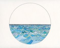 Wave Watercolour No. 1 by beckycomber on Etsy, $150.00
