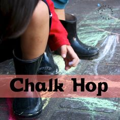 {Outside Play} Chalk Hop. Free play, gross motor skills and creativity all wrapped up in this simple game. Do kids all around the world play this?
