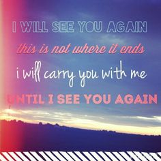 I will see you again by Carrie Undmam wood always reminds me of my G-nd I want to cry every time I hear it :(