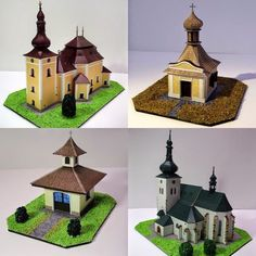 45 Paper Models of Czech Churches | Tektonten Papercraft