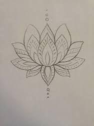 Image result for flor de lotus desenho