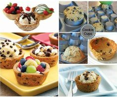 How to DIY Cookie Cups from Muffin Tin Back