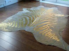 Stunning Metallic Gold Zebra Print Cowhide Rug Http Www Hiderugs Co