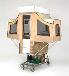 Camper Kart is a Tiny Home That Pops Out of a Shopping Cart Camper Kart by kevin Cyr – Inhabitat - Sustainable Design Innovation, Eco Architecture, Green Building Kombi Motorhome, Rv Campers, Camper Trailers, Happy Campers, Micro Campers, Mini Camper, Glamping, Materiel Camping, Station Wagon