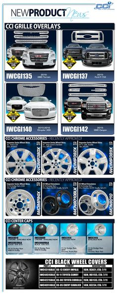 New wheel skins, grille overlay, and center caps are hitting our warehouse. Please your order before they are gone!