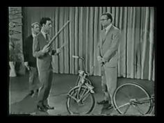 Frank Zappa plays music with bicycle on the Steve Allen show