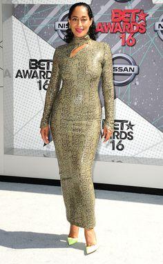 TRACEE ELLIS ROSS Tracee Ellis Ross, Bet Awards, Night Looks, Nice Dresses, Peplum Dress, Stars, Prints, Fashion, Moda