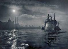 Baltimore Harbor, 1957. By A. Aubrey Bodine