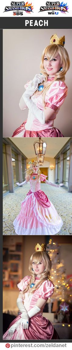 Peach by Elliria in Super Smash Bros cosplay series Video Game Cosplay, Epic Cosplay, Amazing Cosplay, Cosplay Ideas, Super Mario 3d, Mario Bros., Mario Party, Cosplay Makeup, Cosplay Outfits