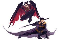 Tim Drake and Stephanie Brown. My favorites of the bat family Batwoman, Nightwing, Batgirl, Tim Drake Red Robin, Robin Dc, Damian Wayne, Jason Todd, Barbara Gordon, Red Hood