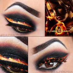 Catching fire inspired eyes. These are really awesome but kinda impractical. I still love them though.