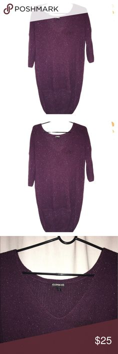 Express Top It can be a nice spring time Sweather. Its dark purple with silver glitter on it. Express Tops