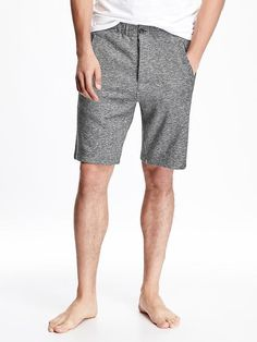 Button-Front Jersey Shorts