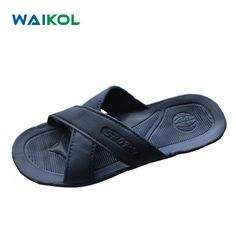 2014b87aacb81 Waikol Men Shoes Household Slippers Slip Bathroom Slippers Male Summer  Indoor Bath Slippers Flats Sandals Beach