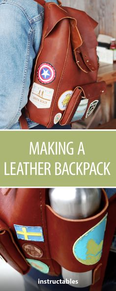 Making a Leather Backpack - Fjällräven Style #leatherworking #fashion #accessory