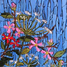 Early Summer, by Kimmy McHarrie Mosaic Tile Art, Mosaic Artwork, Mosaic Crafts, Mosaic Projects, Stone Mosaic, Mosaic Glass, Stained Glass Patterns, Mosaic Patterns, Stained Glass Art