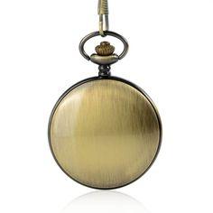 LPW236 Quartz Movement Antique Alloy Pocket Watch Smooth Bronze Case Mechanical Pocket Watch, Pocket Watch Antique, Quartz Watch, Smooth, Bronze, Watches, Antiques, Accessories, Jewelry