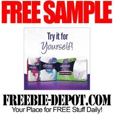 ►► FREE SAMPLE - Always Discreet Liner, Pad, or Underwear Pack ►► #Free, #FREESample, #FREEStuff, #Freebie ►►