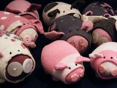 Cute - sock pigs!