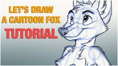 How to: Let's draw a cartoon fox step by step on the ipad tablet