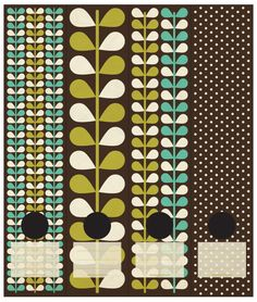 Retro leaves and polkadots in chocolate brown, olive green and light blue. Self-adhesive Lever Arch labels. 4 different labels in a packet. Retro Leaf clr2.