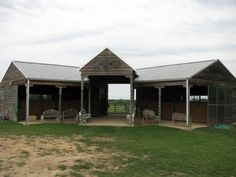 4 stall Horse Barn with Feed Room, Tack Room, Wash Stall, and Hay Barn Barn Stalls, Horse Stalls, Small Horse Barns, Horse Barn Designs, Barn Layout, Horse Barn Plans, Horse Shelter, Barn Pictures, Run In Shed