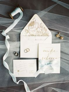 Elegant white and gold wedding invitation: Photography: Ashley Bosnick Photography - ashleybosnick.com   Read More on SMP: http://www.stylemepretty.com/canada-weddings/2016/10/11//