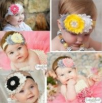 Baby Girl Colorful Lace Flower Bowknot Hairband Hair Acessories Hair Band  Size:flower diamter:about